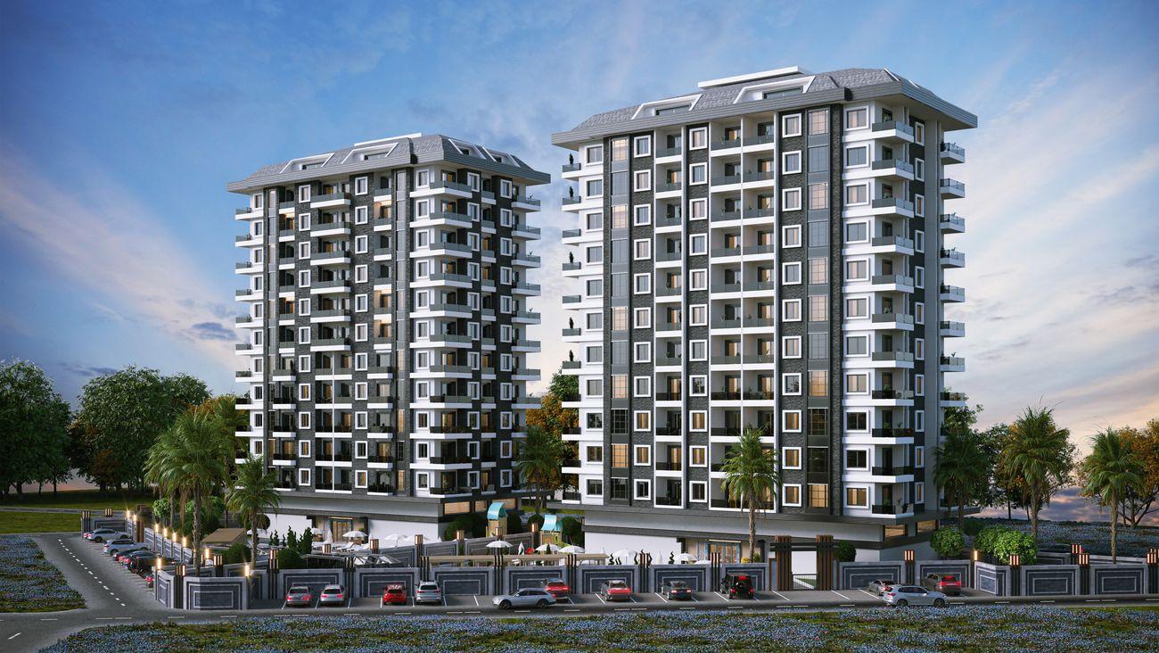 Премиальный комплекс квартир на границе районов Махмутлар и Каргыджак (01332)