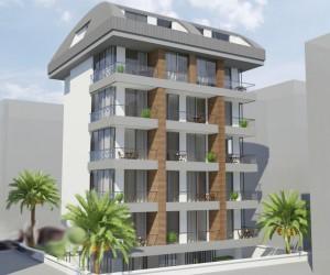 Новый проект в районе пляжа Кейкубат, центр Алании (005390)